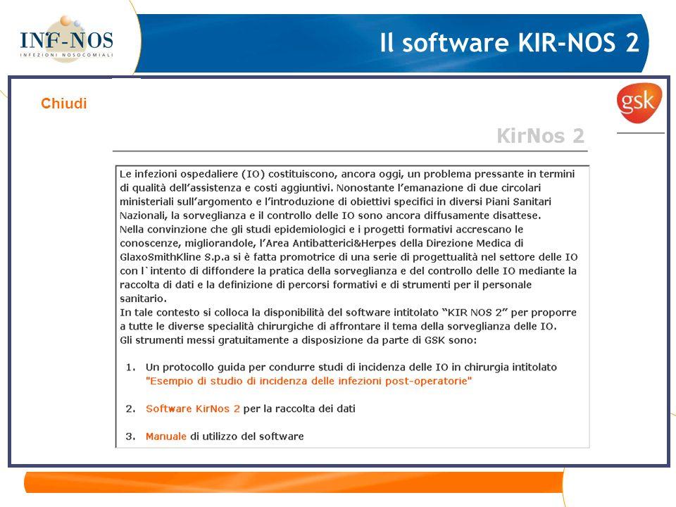 Il software KIR-NOS 2 Chiudi