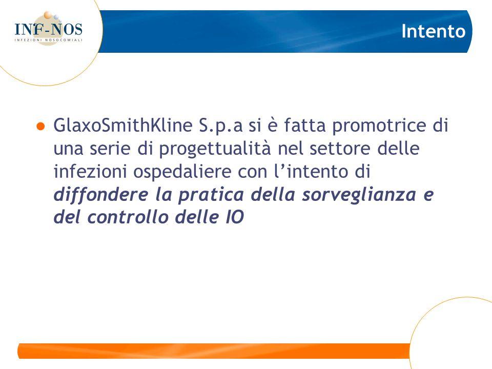 Intento GlaxoSmithKline S.p.a si è fatta promotrice di una serie di progettualità nel settore delle infezioni ospedaliere con lintento di diffondere l