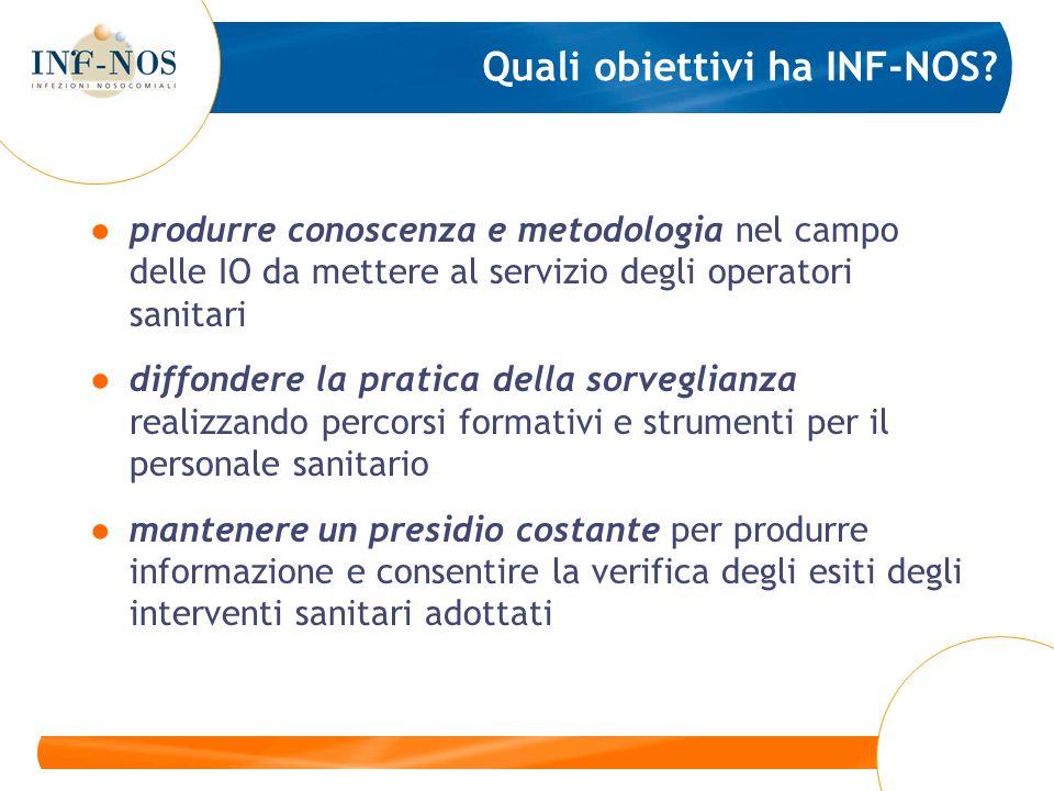 produrre conoscenza e metodologia nel campo delle IO da mettere al servizio degli operatori sanitari diffondere la pratica della sorveglianza realizza