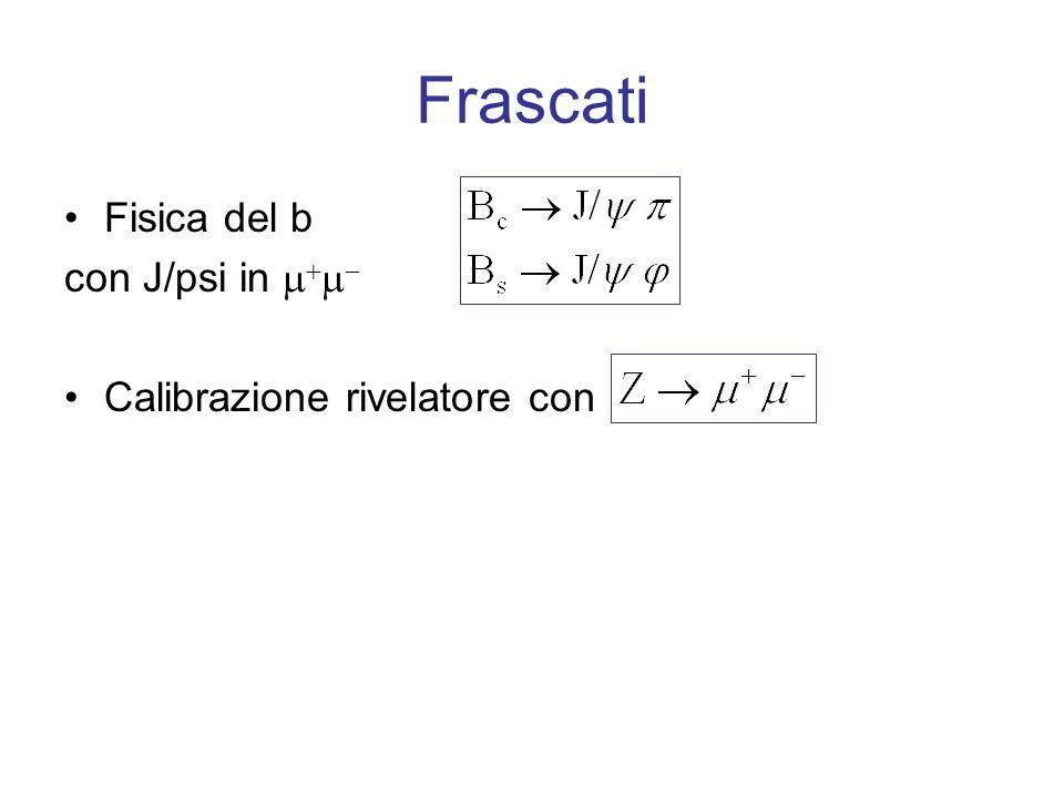 Frascati Fisica del b con J/psi in Calibrazione rivelatore con