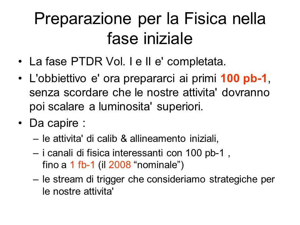 Preparazione per la Fisica nella fase iniziale La fase PTDR Vol.
