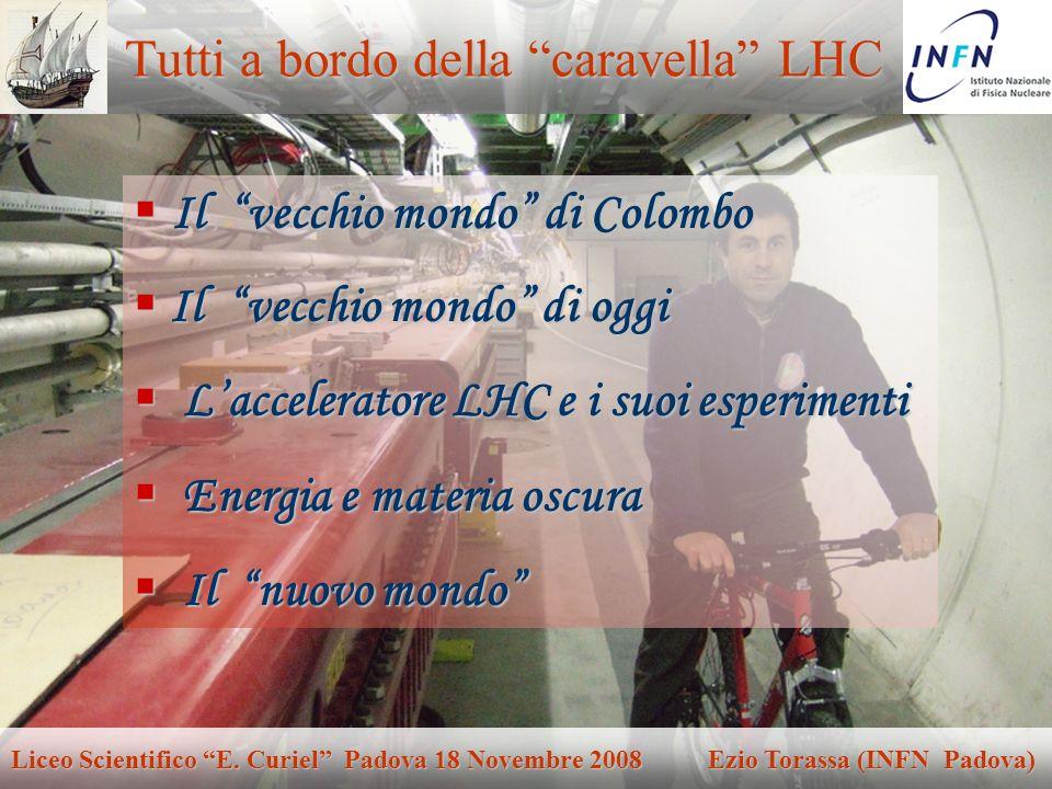 Padova 18 Novembre 2008Ezio Torassa Tutti a bordo della caravella LHC Il vecchio mondo di Colombo Il vecchio mondo di Colombo Il vecchio mondo di oggi