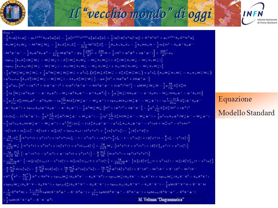 Padova 18 Novembre 2008Ezio Torassa Equazione Modello Standard Il vecchio mondo di oggi