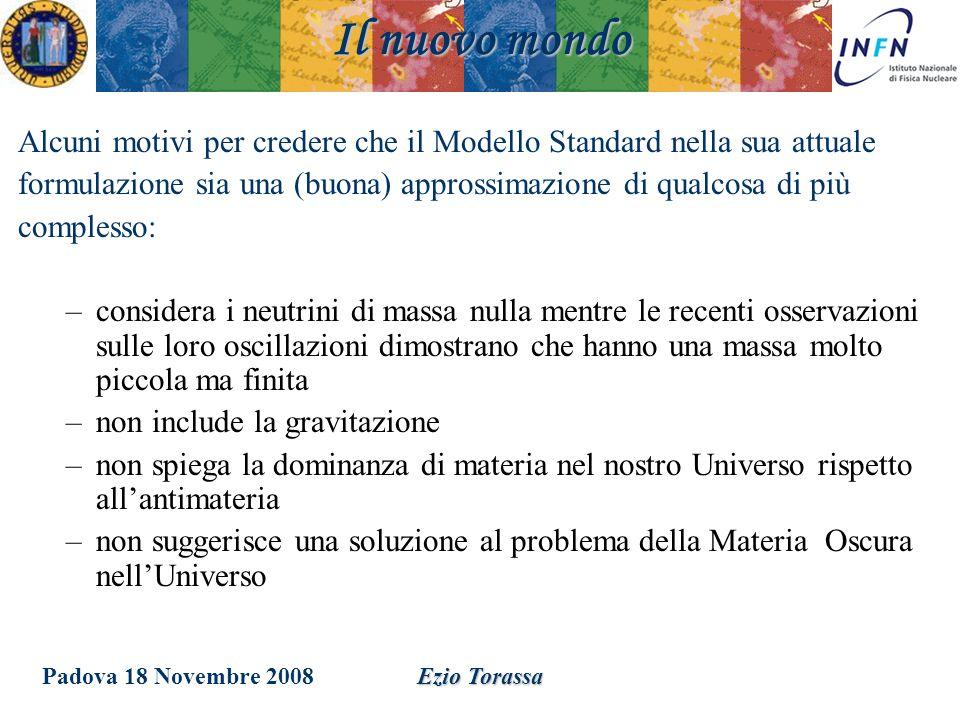Padova 18 Novembre 2008Ezio Torassa Alcuni motivi per credere che il Modello Standard nella sua attuale formulazione sia una (buona) approssimazione d