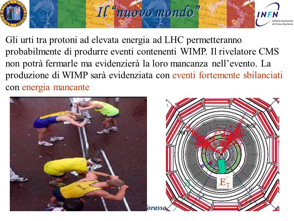 Padova 18 Novembre 2008Ezio Torassa Il nuovo mondo Gli urti tra protoni ad elevata energia ad LHC permetteranno probabilmente di produrre eventi conte
