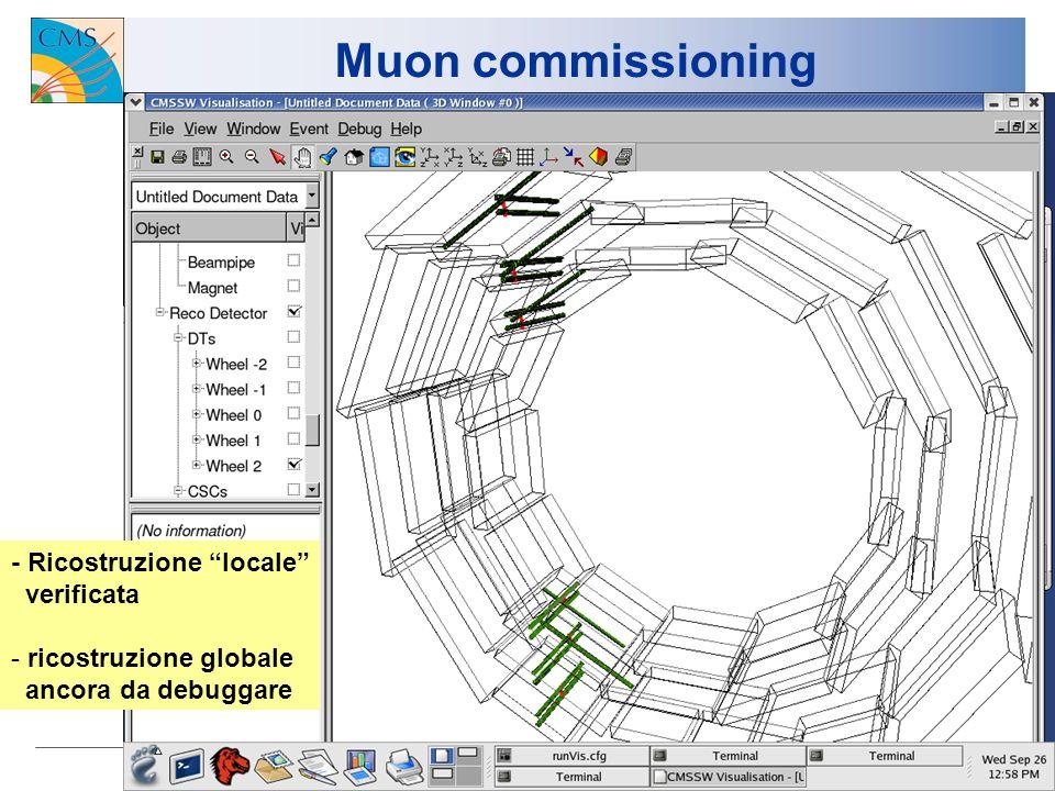 6 Muon commissioning - Efficienza e verifiche di allineamento :