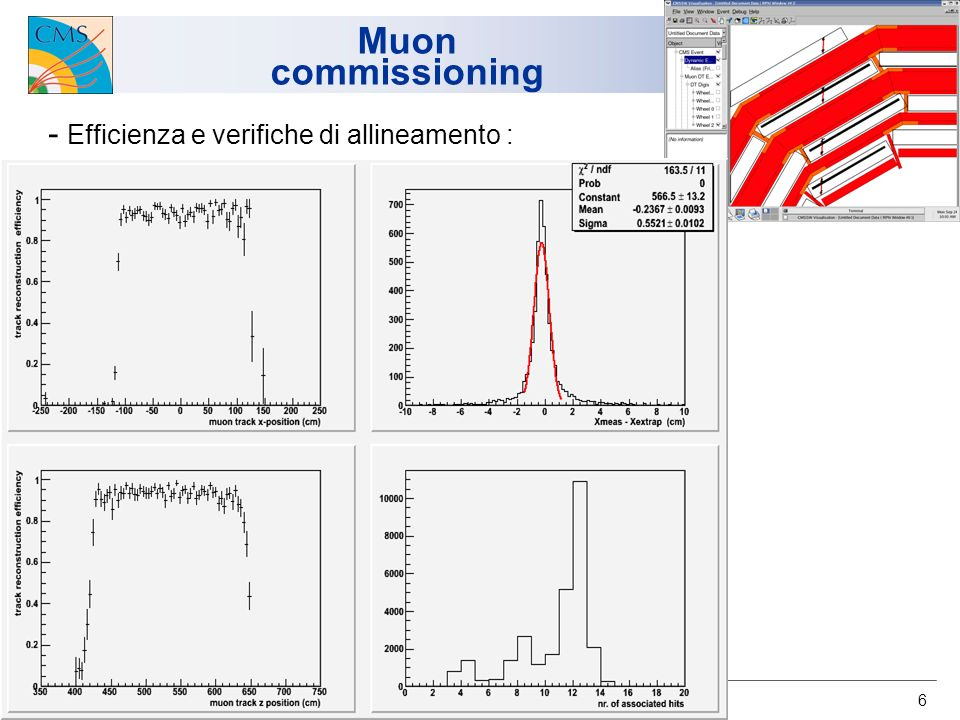 6 Muon commissioning - Efficienza e verifiche di allineamento :