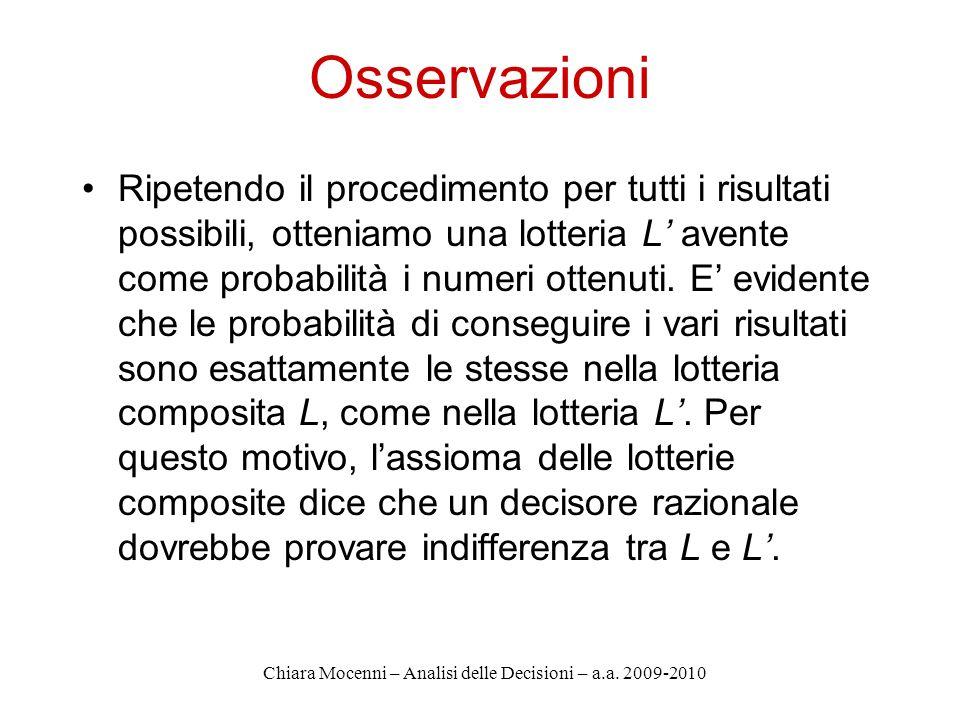 Chiara Mocenni – Analisi delle Decisioni – a.a.2009-2010 4.