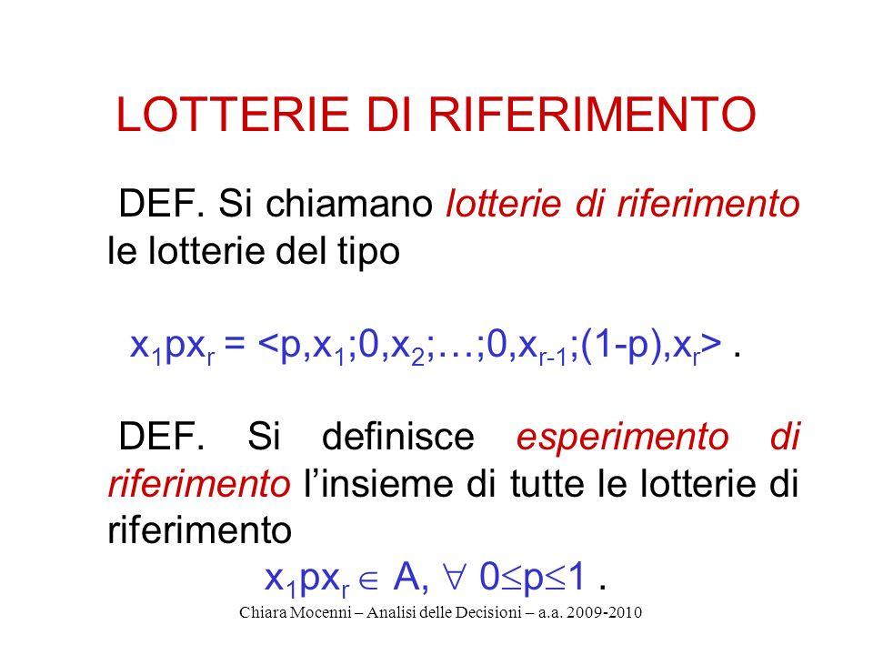 Chiara Mocenni – Analisi delle Decisioni – a.a.2009-2010 5.