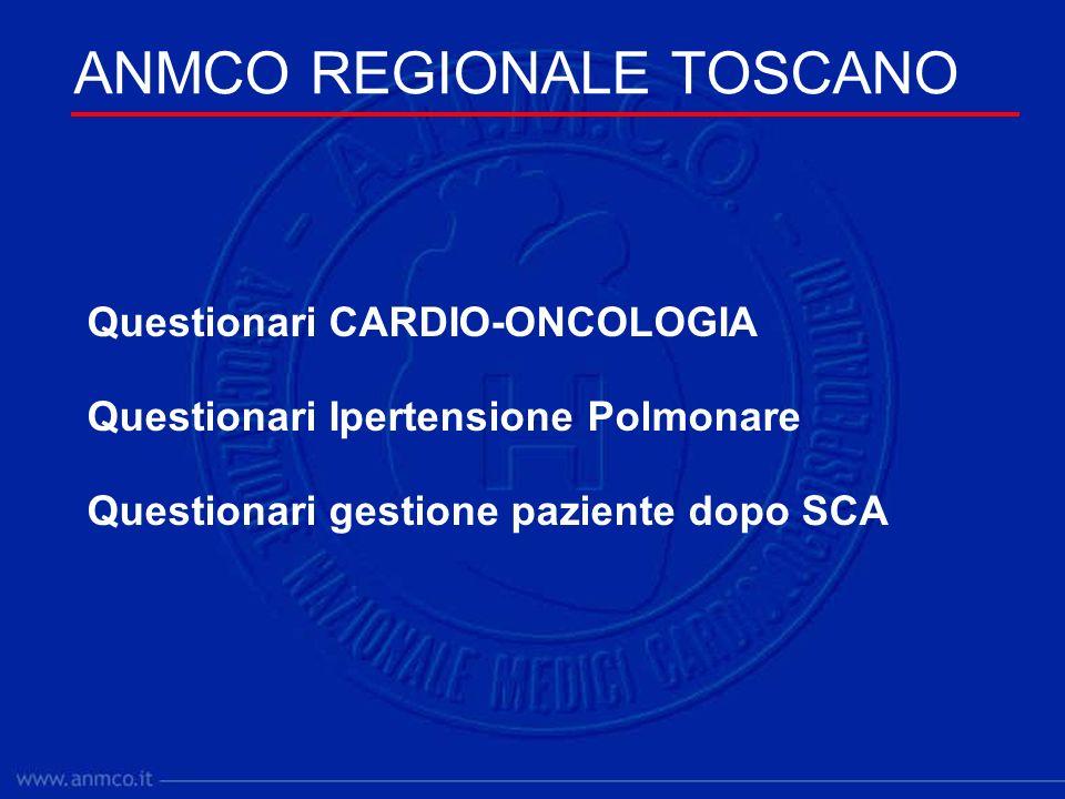 Questionari CARDIO-ONCOLOGIA Questionari Ipertensione Polmonare Questionari gestione paziente dopo SCA