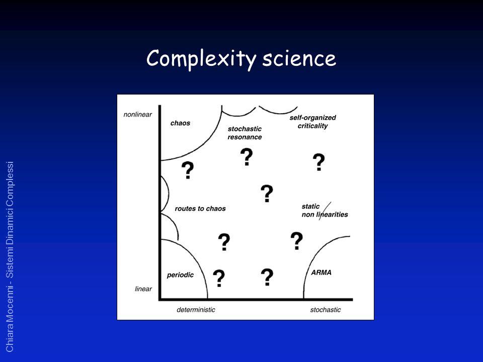 Chiara Mocenni - Sistemi Dinamici Complessi Complexity science