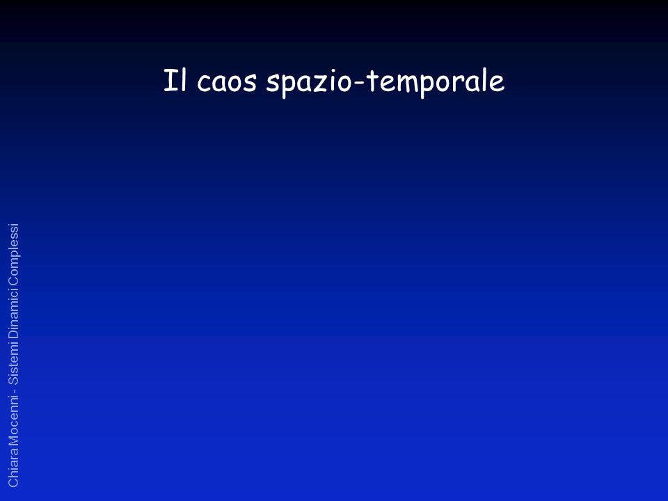 Chiara Mocenni - Sistemi Dinamici Complessi Il caos spazio-temporale