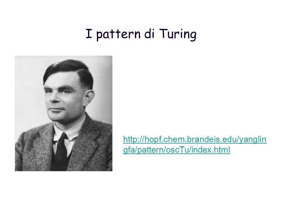 I pattern di Turing http://hopf.chem.brandeis.edu/yanglin gfa/pattern/oscTu/index.html