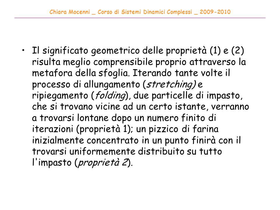 Chiara Mocenni _ Corso di Sistemi Dinamici Complessi _ 2009-2010 ______________________________________________________________________________________ Il significato geometrico delle proprietà (1) e (2) risulta meglio comprensibile proprio attraverso la metafora della sfoglia.