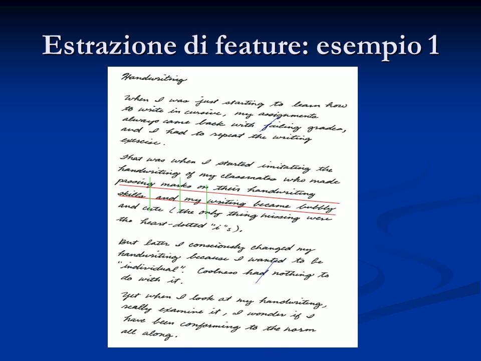 Estrazione di feature: esempio 1