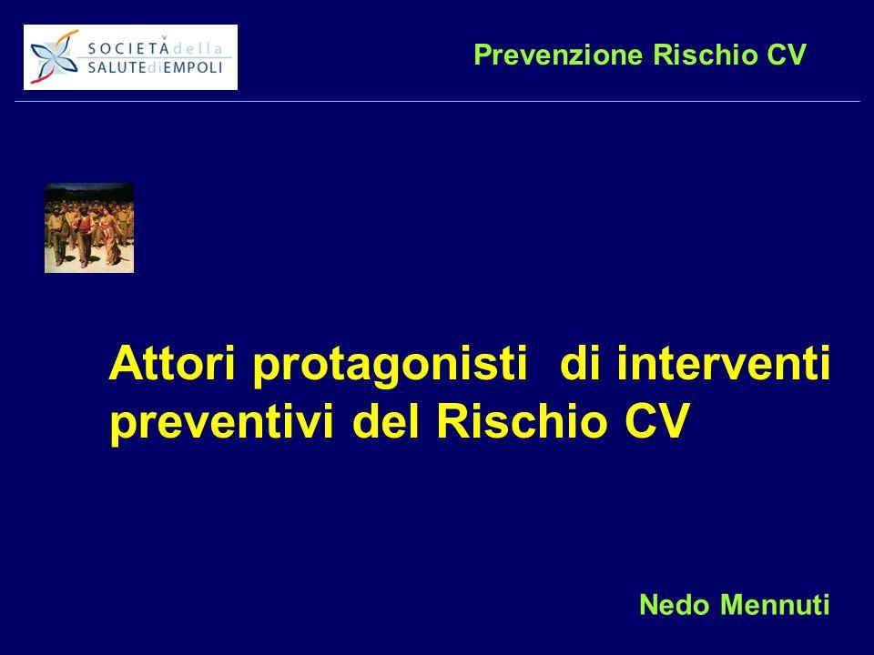 Prevenzione Rischio CV Attori protagonisti di interventi preventivi del Rischio CV Nedo Mennuti