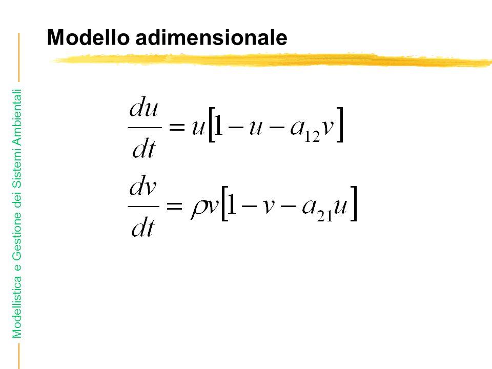 Modellistica e Gestione dei Sistemi Ambientali Modello adimensionale