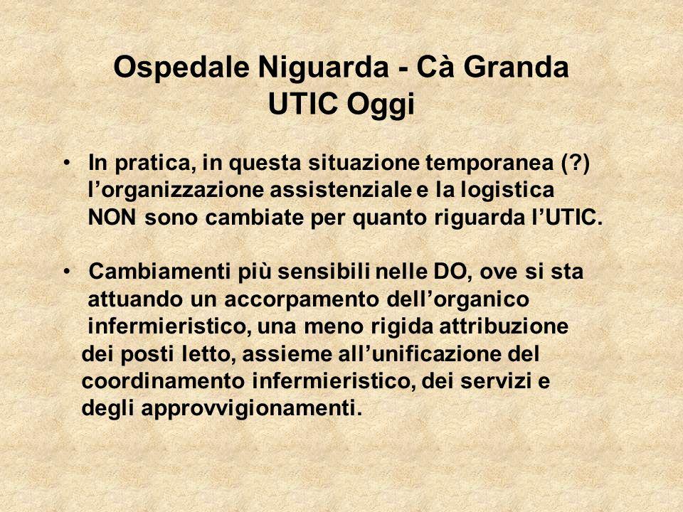 In pratica, in questa situazione temporanea (?) lorganizzazione assistenziale e la logistica NON sono cambiate per quanto riguarda lUTIC. Cambiamenti