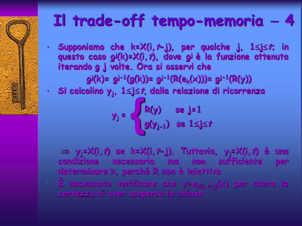 Supponiamo che k=X(i,t-j), per qualche j, 1 j t; in questo caso g j (k)=X(i,t), dove g j è la funzione ottenuta iterando g j volte.