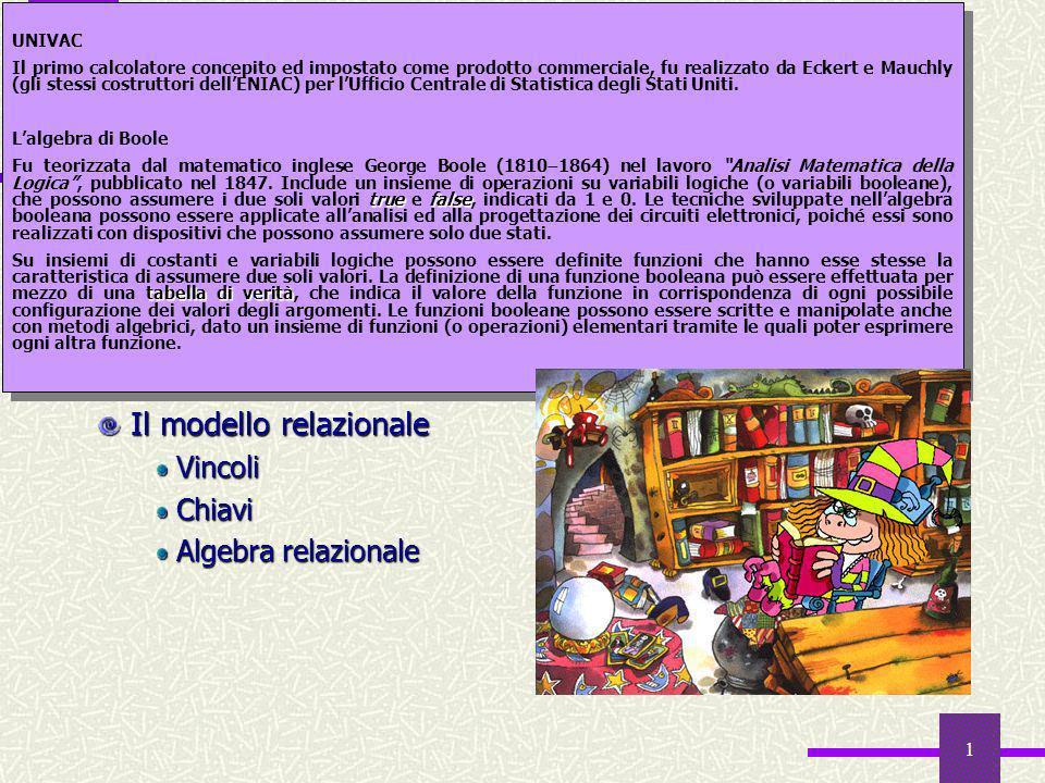 1 Sommario Le basi di dati Cenni storici e introduzione Da sistemi informativi a sistemi informatici: le basi di dati e i DBMS Il modello relazionale