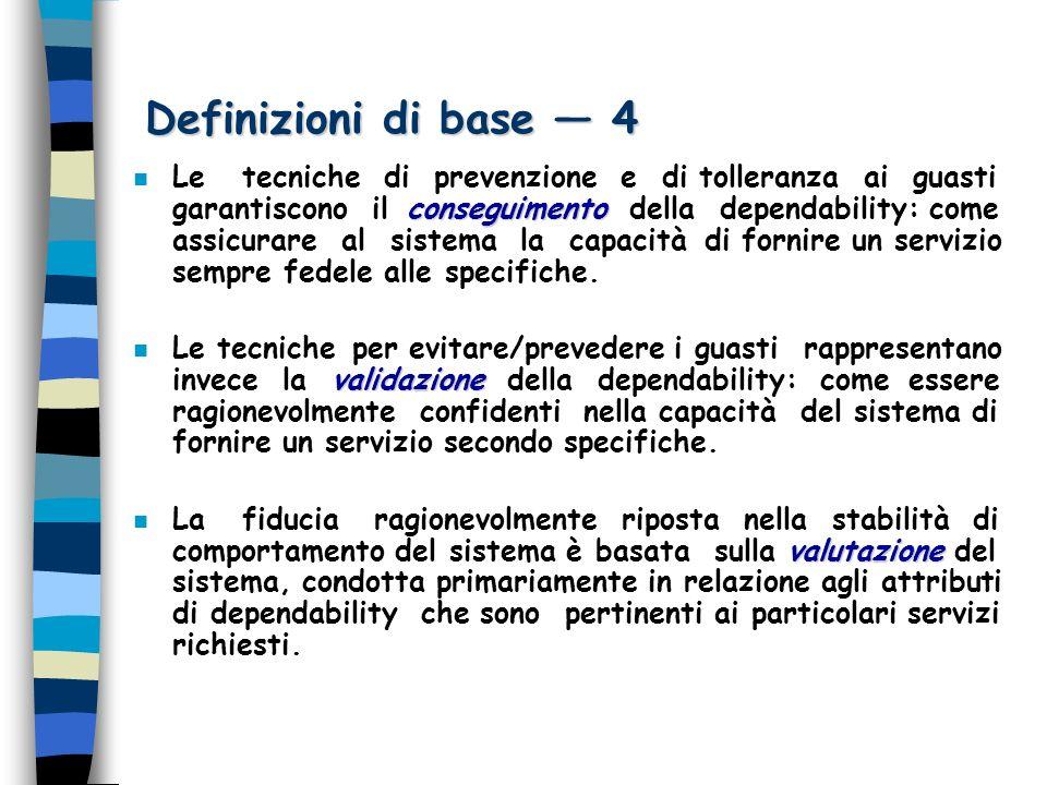 Stima dellaffidabilità 1 n Definizione di Affidabilità n Definizione di Affidabilità Laffidabilità di un sistema è la misura del tempo continuativo in cui viene fornito un servizio corretto.