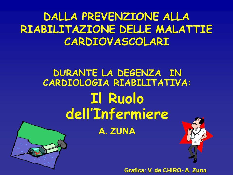DALLA PREVENZIONE ALLA RIABILITAZIONE DELLE MALATTIE CARDIOVASCOLARI DURANTE LA DEGENZA IN CARDIOLOGIA RIABILITATIVA: Il Ruolo dellInfermiere A. ZUNA