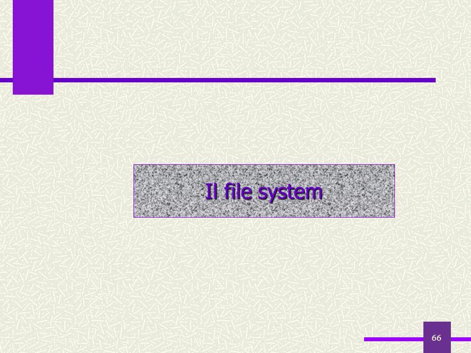 66 Il file system
