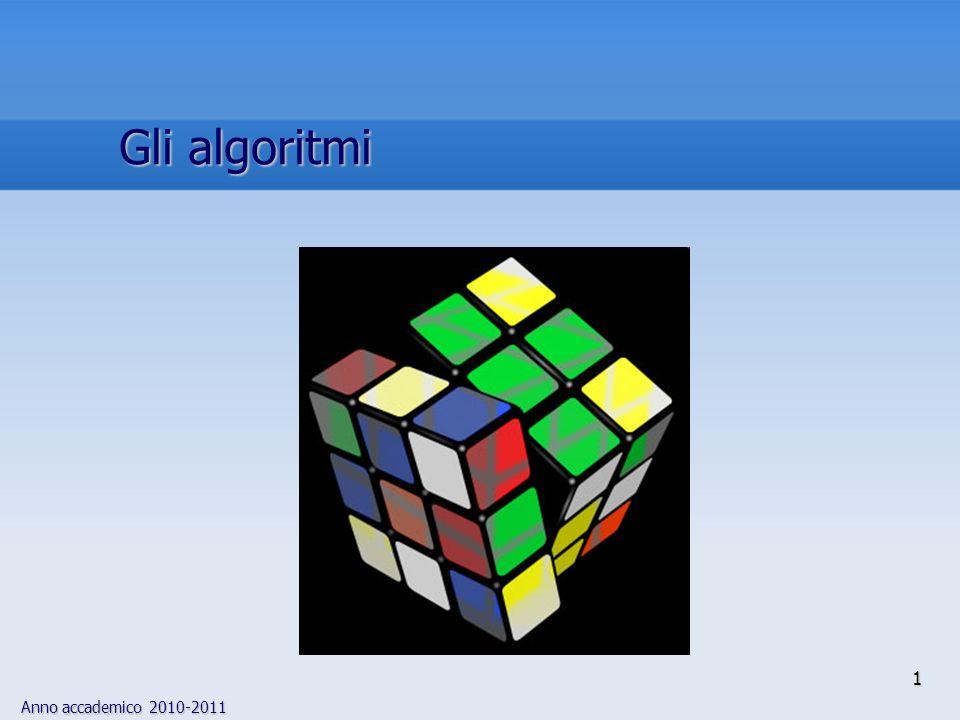 Anno accademico 2010-2011 1 Gli algoritmi