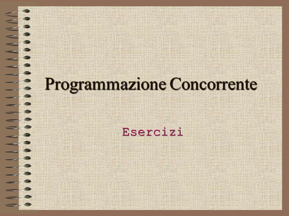 Programmazione Concorrente Esercizi