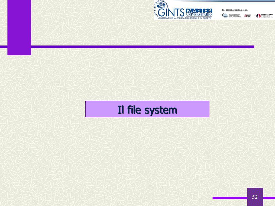 52 Il file system