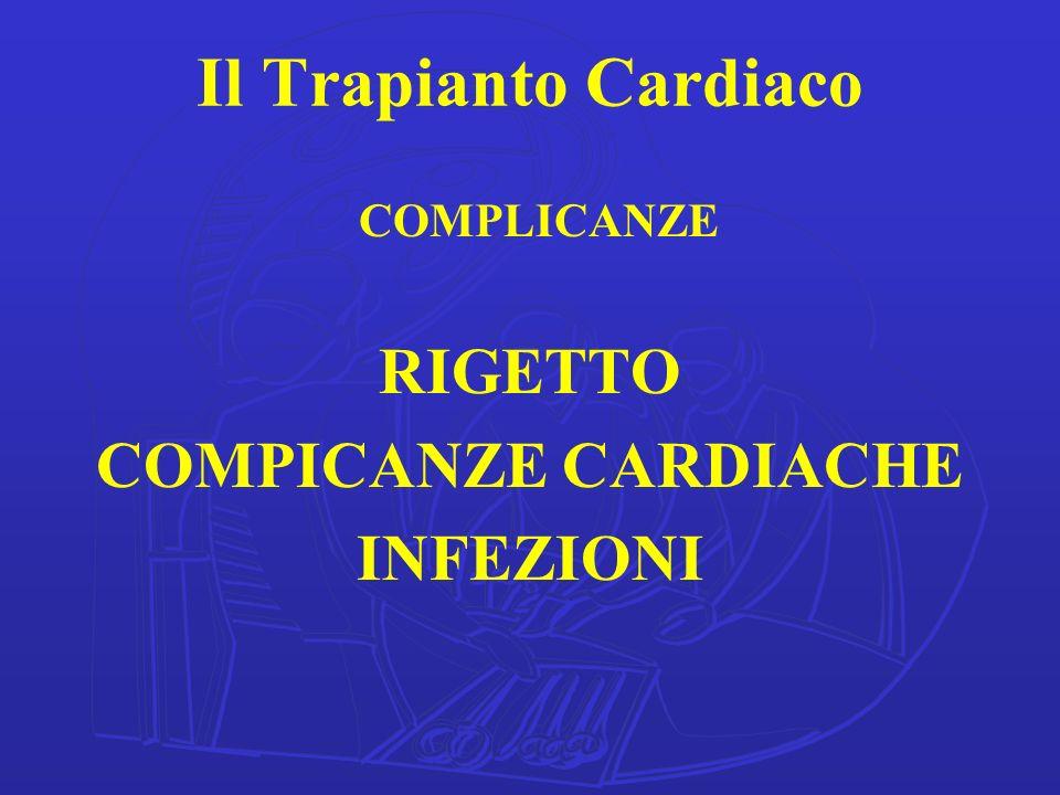 Il Trapianto Cardiaco COMPLICANZE RIGETTO COMPICANZE CARDIACHE INFEZIONI