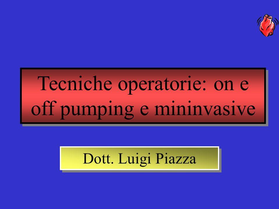 Tecniche operatorie: on e off pumping e mininvasive Dott. Luigi Piazza