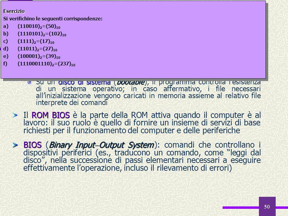 50 Il software della ROM 2 caricatore di boot strap Il caricatore di boot strap ha la funzione di leggere un programma di lancio dal disco e di trasfe
