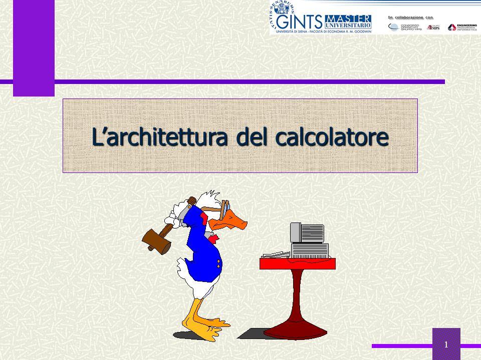 1 Larchitettura del calcolatore