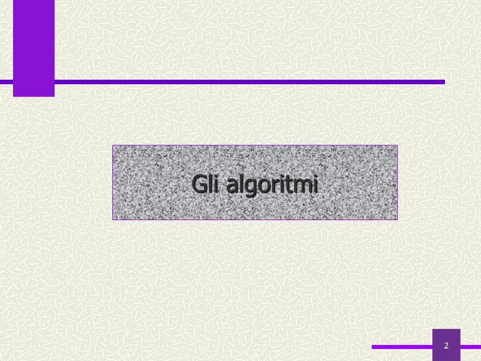 2 Gli algoritmi
