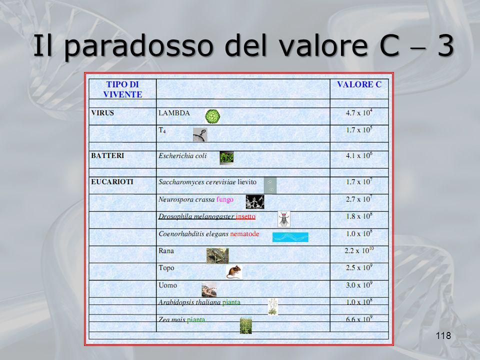 Il paradosso del valore C 3 118