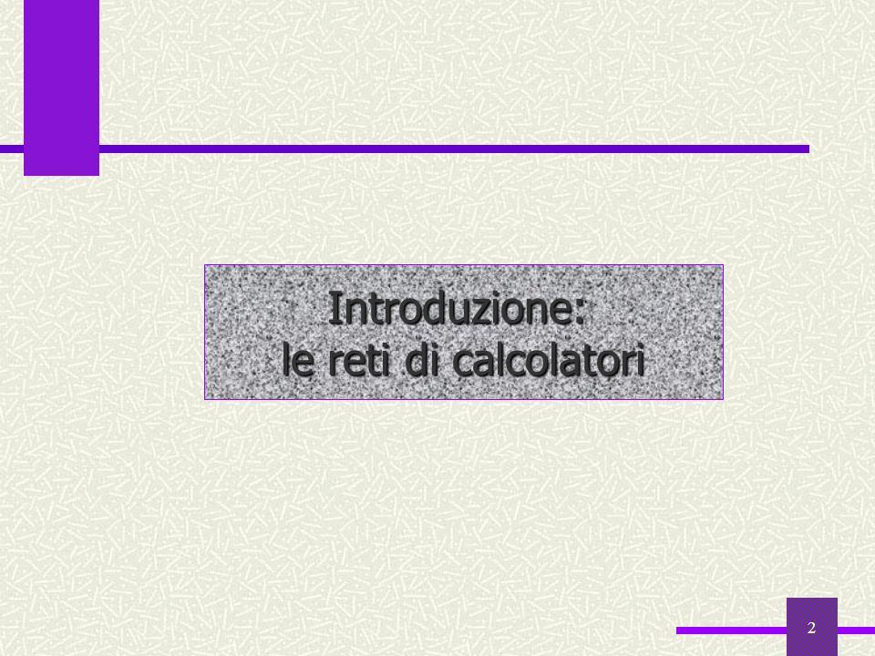 12 Le tappe fondamentali 1987 10000 host 1989 100000 host Internet 1990 ARPANET diviene Internet, Tim Berners-Lee del CERN di Ginevra WWW progetta il WWW 1991 primi software di navigazione HTTP 1992 nasce il protocollo HTTP Mosaic 1993 prima versione (gratuita) di Mosaic, il primo browser grafico Netscape 1994 Netscape distribuisce gratuitamente via Internet, la versione beta del Navigator Explorer 1995 Microsoft realizza Explorer ARPANET 1969 primo nodo di ARPANET 1971 ARPANET conta 15 nodi 1972 ARPANET congiunge 37 nodi 1973 prima connessione internazionale fra Inghilterra e Norvegia 1976 la regina Elisabetta è il primo capo di stato a spedire e-mail; Jimmy Carter e Walter Mondale coordinano la campagna elettorale via e-mail (4$ a messaggio) TCP/IP 1982 nasce il protocollo TCP/IP 1983 la rete conta più di mille nodi; MILNET MILNET (rete militare) si scinde da ARPANET (rete di ricerca del mondo universitario)