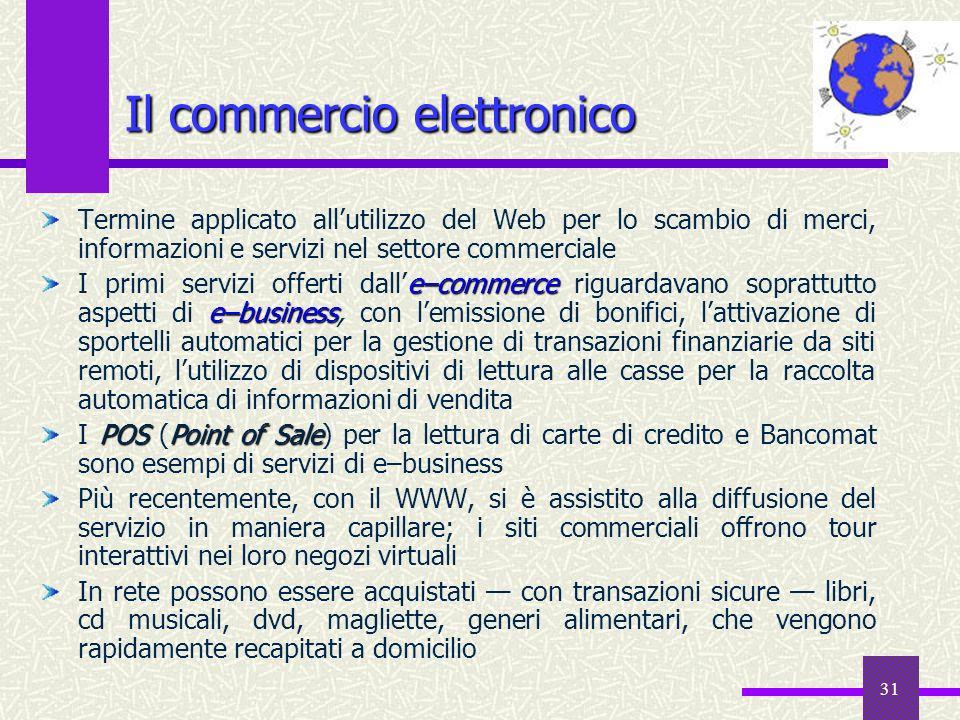30 Internet 38 years 4 years 13 years 16 years Radio Televisione PC Numero di anni per raggiungere 50.000.000 di utenti
