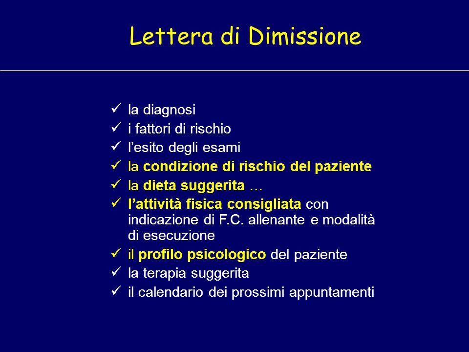 la diagnosi i fattori di rischio lesito degli esami la condizione di rischio del paziente la dieta suggerita … lattività fisica consigliata con indica