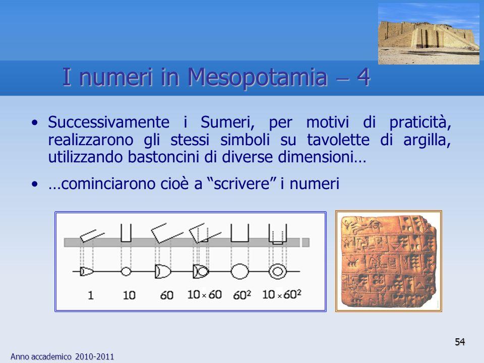 Anno accademico 2010-2011 54 Successivamente i Sumeri, per motivi di praticità, realizzarono gli stessi simboli su tavolette di argilla, utilizzando b