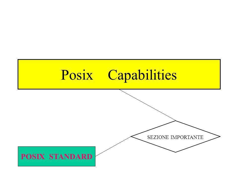Posix Capabilities POSIX STANDARD SEZIONE IMPORTANTE