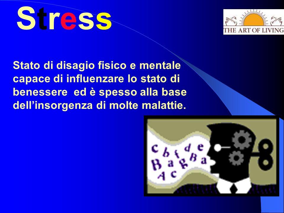 StressStress Stato di disagio fisico e mentale capace di influenzare lo stato di benessere ed è spesso alla base dellinsorgenza di molte malattie.
