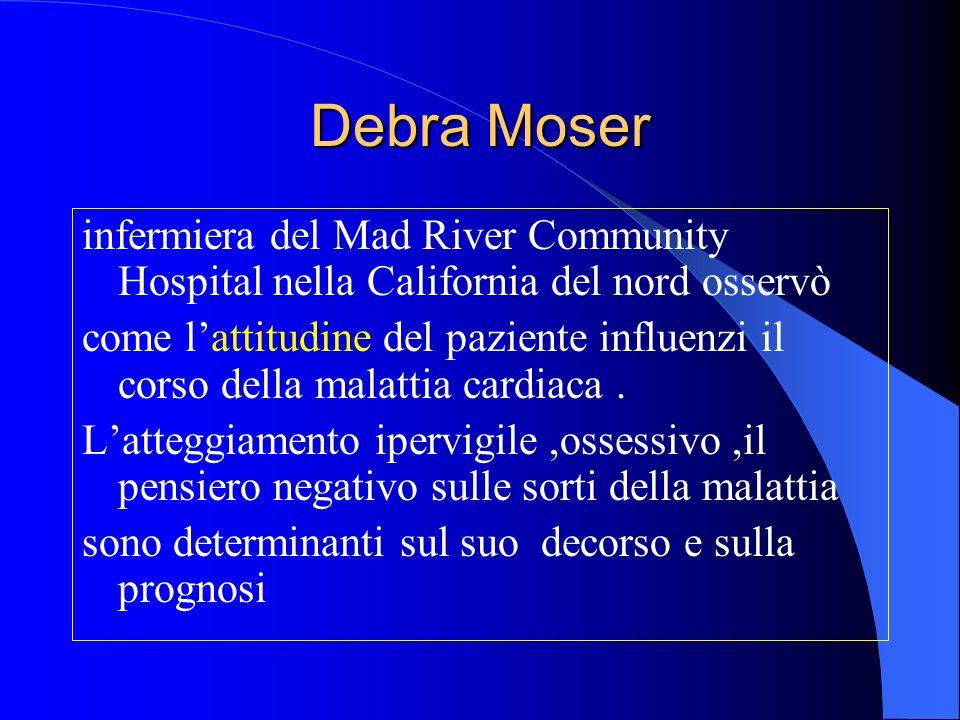 Debra Moser infermiera del Mad River Community Hospital nella California del nord osservò come lattitudine del paziente influenzi il corso della malattia cardiaca.