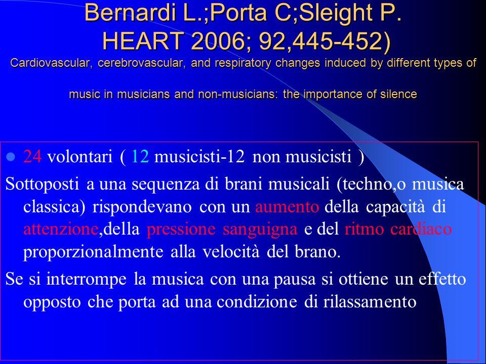 Bernardi L.;Porta C;Sleight P.
