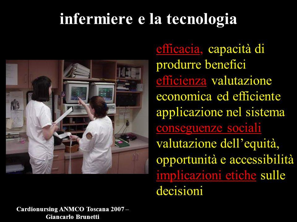 infermiere e la tecnologia efficacia, capacità di produrre benefici efficienza valutazione economica ed efficiente applicazione nel sistema conseguenz