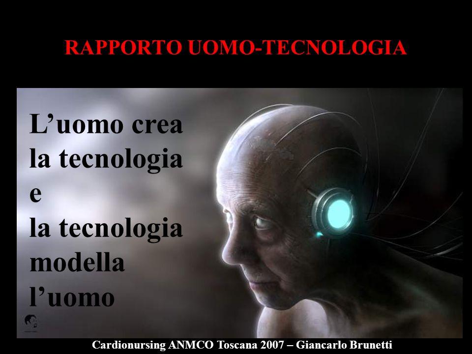 RAPPORTO UOMO-TECNOLOGIA Luomo crea la tecnologia e la tecnologia modella luomo Cardionursing ANMCO Toscana 2007 – Giancarlo Brunetti