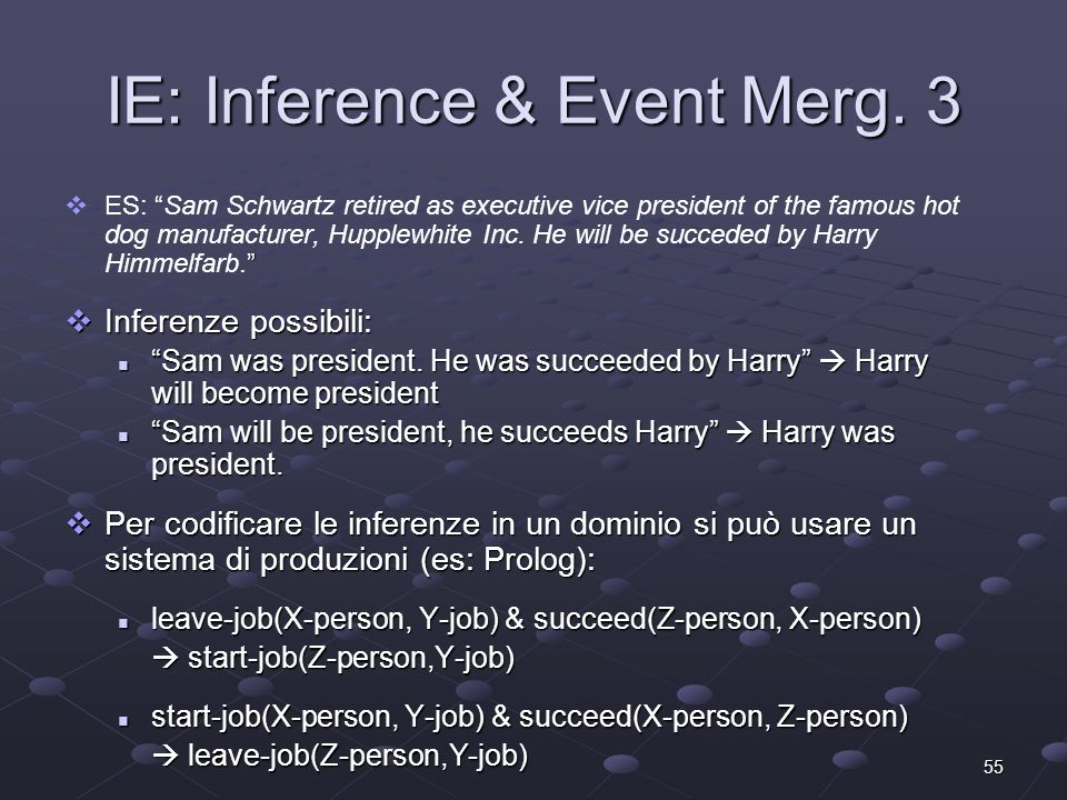 55 IE: Inference & Event Merg.