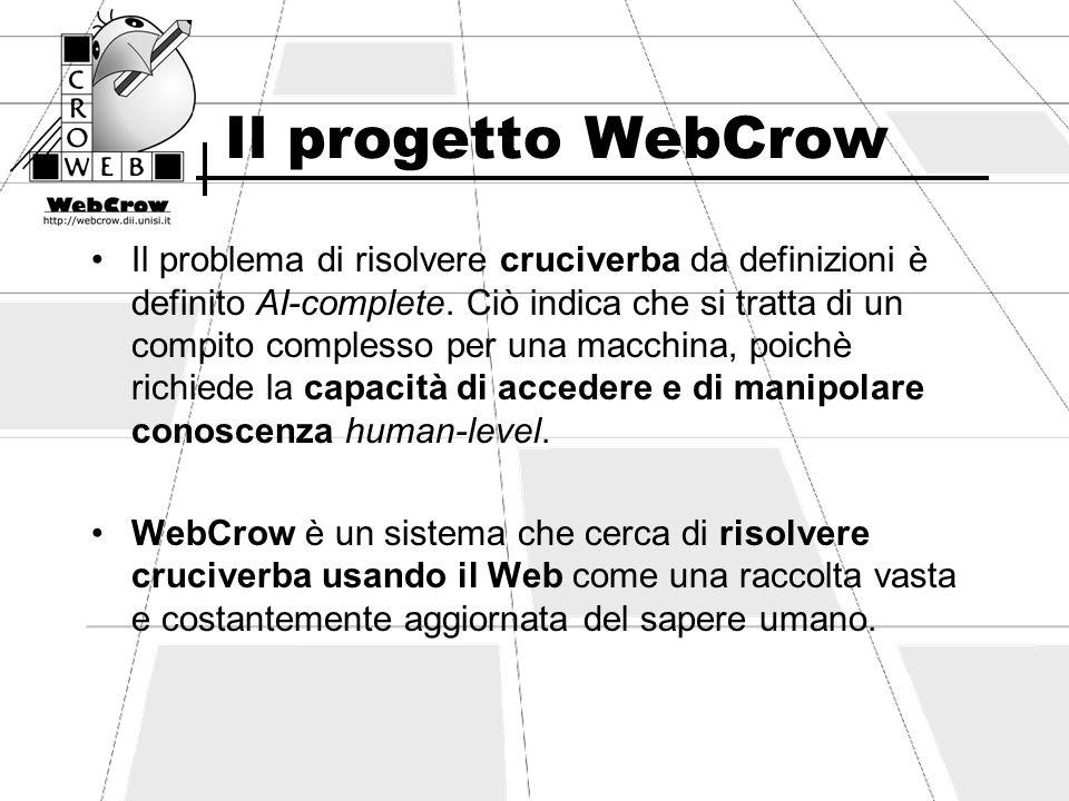 Il progetto WebCrow Il problema di risolvere cruciverba da definizioni è definito AI-complete. Ciò indica che si tratta di un compito complesso per un