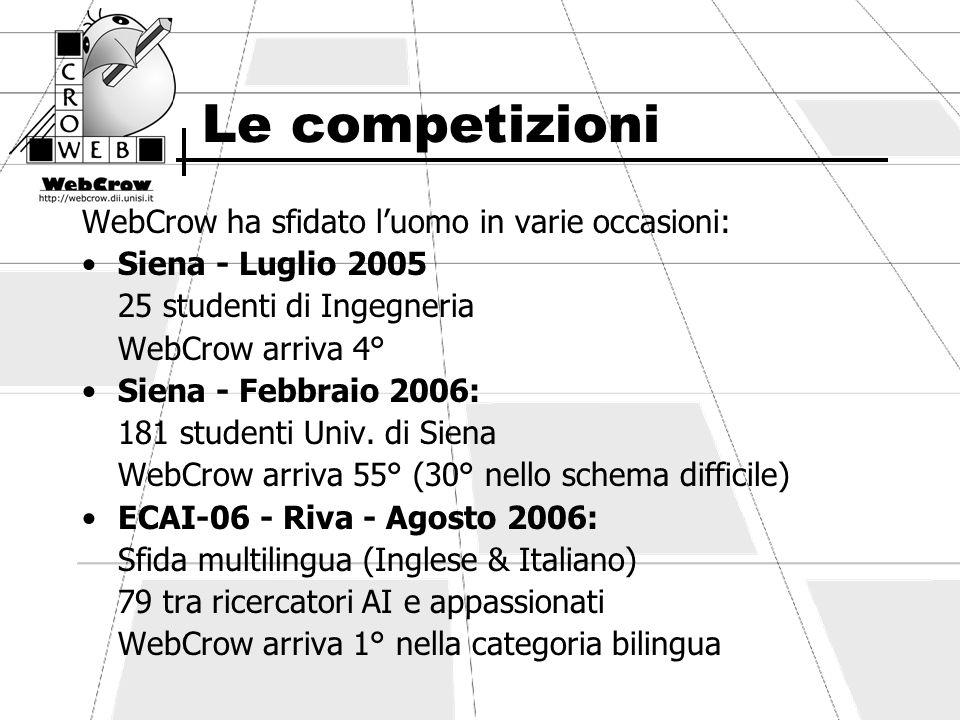 WebCrow Service WebCrow Service si pone l obiettivo di diventare un sistema di Question Answering sempre al fianco dell utente.