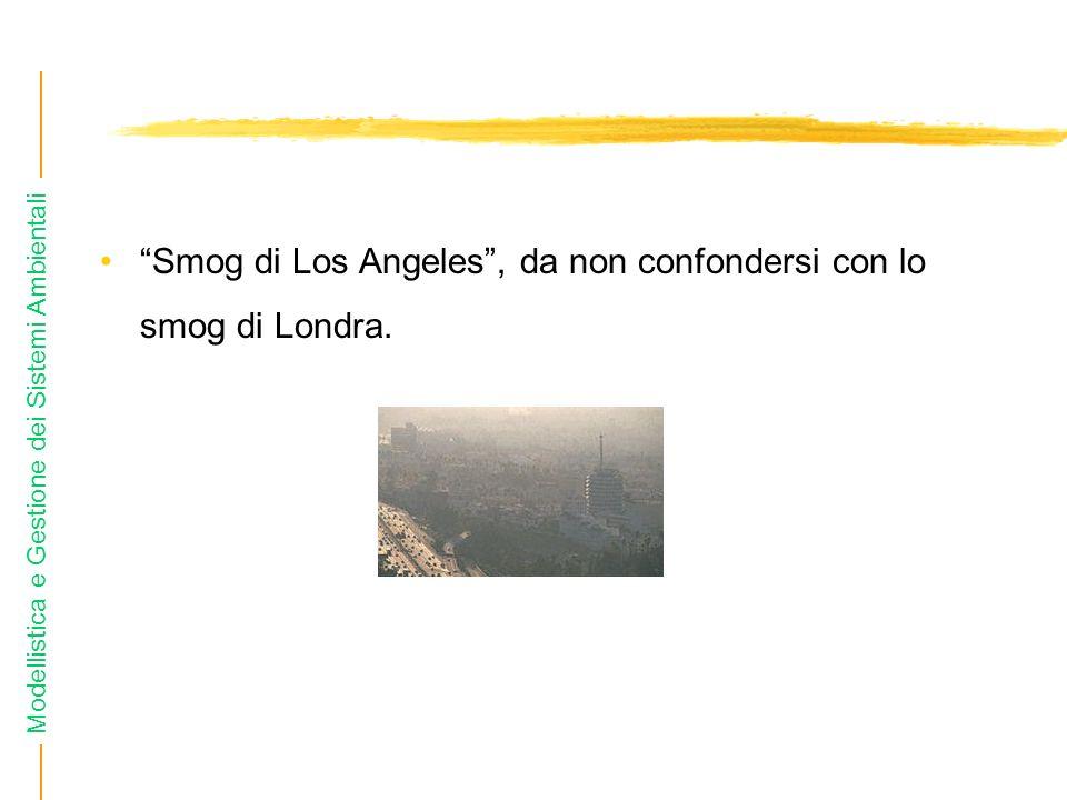 Modellistica e Gestione dei Sistemi Ambientali Smog di Los Angeles, da non confondersi con lo smog di Londra.